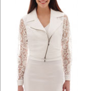 Bisou Bisou® Lace-Sleeve Cropped Jacket