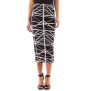 Bisou Bisou® Mirror Print Pencil Skirt