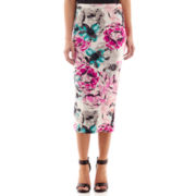 Bisou Bisou® Floral Print Pencil Skirt