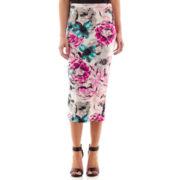 Bisou Bisou® Floral Print Pencil Skirt