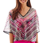 Bisou Bisou® Elbow-Sleeve V-Neck Blouse