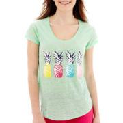 Stylus™ Short-Sleeve Linen Graphic T-Shirt