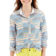 Stylus™ Long-Sleeve Striped Essential Shirt