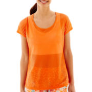 Xersion™ Short-Sleeve Perforated X-Back Keyhole T-Shirt