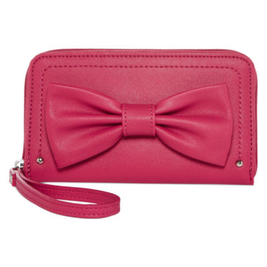 jcpenney.com | Lulu™ Bow Zip-Around Wallet with Wristlet