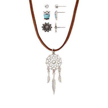 jcpenney.com | Decree® 4-pc. Dreamcatcher Necklace and Earrings Set