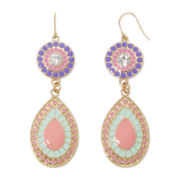 Decree® Epoxy Gold-Tone Metal Drop Earrings