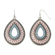 Arizona Silver-Tone Open Teardrop Earrings