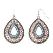 Arizona Silver-Tone Open Teardrop Earrings