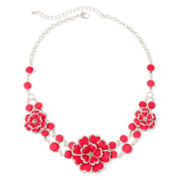 Mixit™ Pink Flower Silver-Tone Necklace