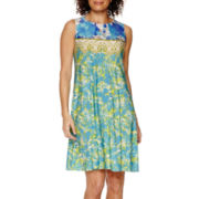 Danny & Nicole® Sleeveless Floral Swing Fit-and-Flare Dress - Petite