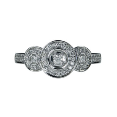 jcpenney.com | LIMITED QUANTITIES 1/4 CT. T.W. Three Stone Diamond 10K White Gold Ring