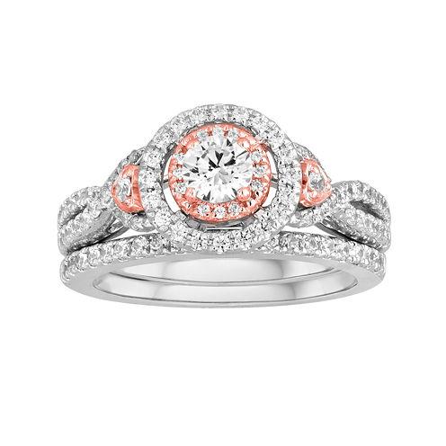 I Said Yes™ 1 CT. T.W. Diamond 10K Two-Tone Gold Bridal Ring Set