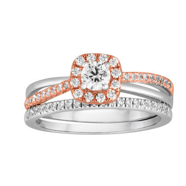 jcpenney.com | I Said Yes™ 1/2 CT. T.W. Diamond 10K Two-Tone Gold Bridal Set