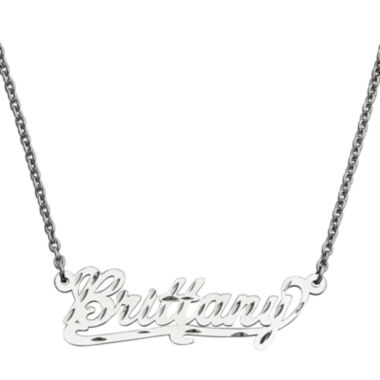 jcpenney.com | Personalized 15x45mm Diamond-Cut Scroll Name Necklace