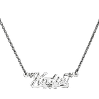 jcpenney.com | Personalized 13x36mm Diamond-Cut Scroll Name Necklace