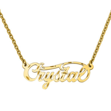 jcpenney.com | Personalized 14x37mm Diamond Cut Swirled Name Necklace