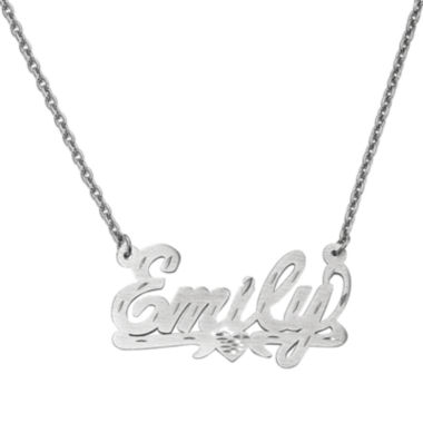 jcpenney.com | Personalized 21x36mm  Diamond-Cut Scroll Name Necklace