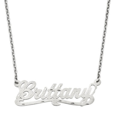 jcpenney.com | Personalized 15x44mm Diamond-Cut Scroll Name Necklace