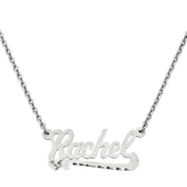 jcpenney.com | Personalized 15x33mm Diamond-Cut Scroll Name Necklace