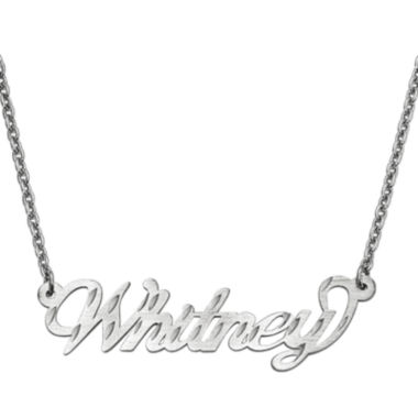 jcpenney.com | Personalized 15x46mm Diamond-Cut Name Necklace