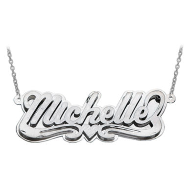 jcpenney.com | Personalized Scroll with Heart Name Necklace