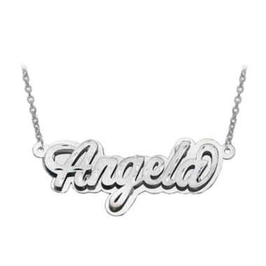 jcpenney.com | Personalized Diamond-Cut 3D Name Necklace