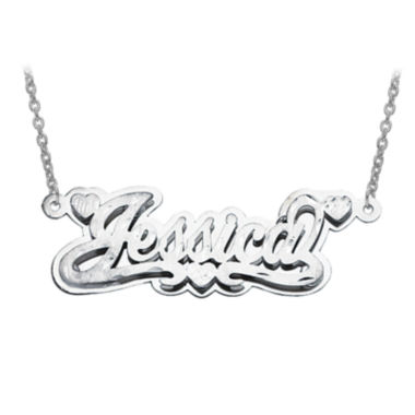 jcpenney.com | Personalized Polished 3D Name Necklace