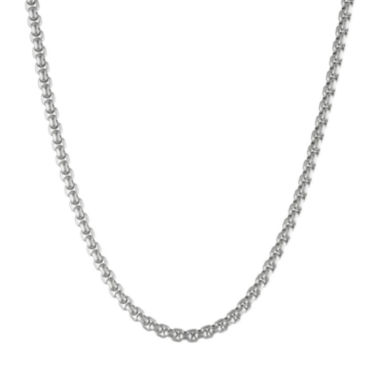 "jcpenney.com | Mens Stainless Steel 22"" Box Chain Necklace"