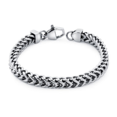 jcpenney.com | Mens Stainless Steel Wheat Link Bracelet