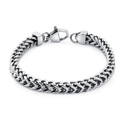 Mens Stainless Steel Wheat Link Bracelet