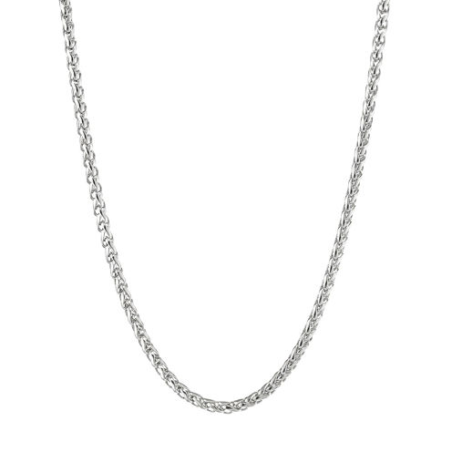 "Mens Stainless Steel 20"" Wheat Chain Necklace"