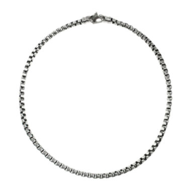 "jcpenney.com | Mens Stainless Steel 24"" Round Box Chain Necklace"
