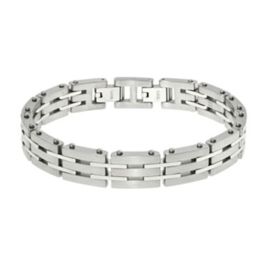 jcpenney.com | Mens Stainless Steel Chain Bracelet with Lock Extender