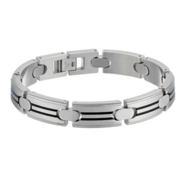jcpenney.com | Mens Stainless Steel Chain Bracelet with Resin