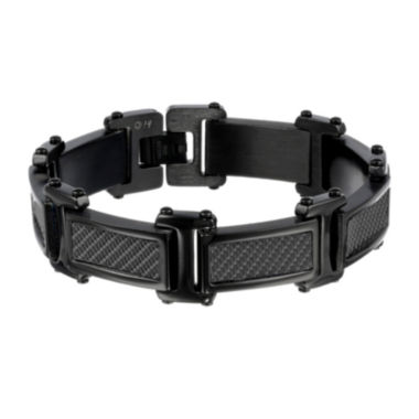 jcpenney.com | Mens Black Stainless Steel Chain and Carbon Fiber Bracelet