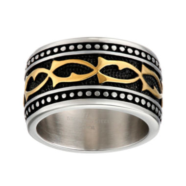 jcpenney.com | Mens Stainless Steel Band Ring with Multicolored Plating