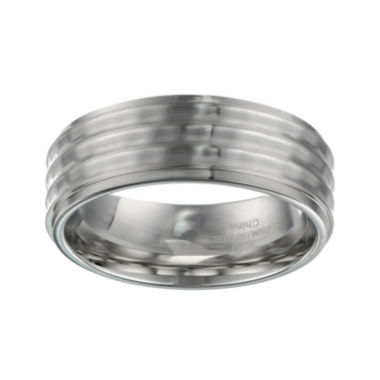 jcpenney.com | Mens Stainless Steel Textured Band