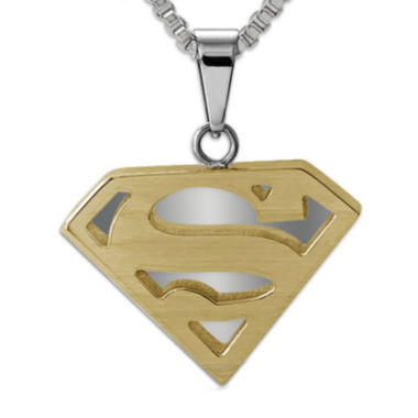 jcpenney.com | DC Comics® Superman Two-Tone Stainless Steel Pendant Necklace