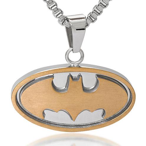 DC Comics® Batman Two-Tone Stainless Steel Pendant Necklace