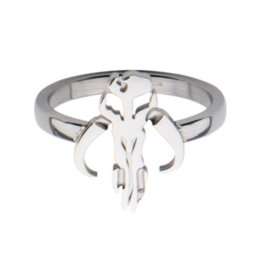 jcpenney.com | Star Wars® Stainless Steel Mandalorian Symbol Cutout Ring
