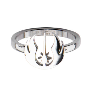 jcpenney.com | Star Wars® Stainless Steel Jedi Symbol Cutout Ring