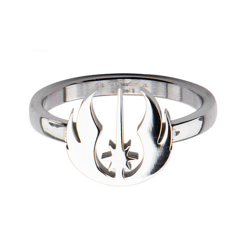 Star Wars® Stainless Steel Jedi Symbol Cutout Ring