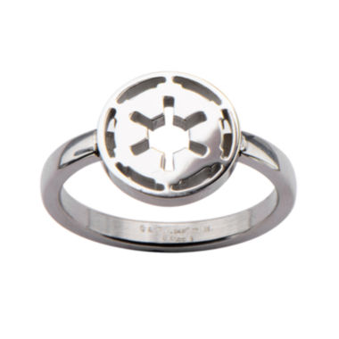 jcpenney.com | Star Wars® Stainless Steel Galactic Empire Symbol Cutout Ring