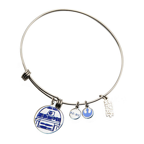 Star Wars® Stainless Steel R2D2 Expandable Charm Bracelet