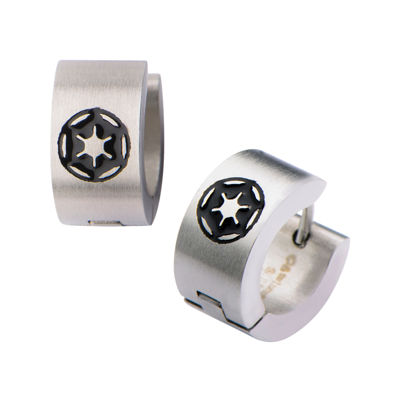 Stainless Steel Star Wars Disney Galactic Empire Symbol Enamel Stud Earrings