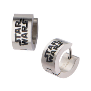 jcpenney.com | Star Wars® Stainless Steel Logo Hoop Earrings