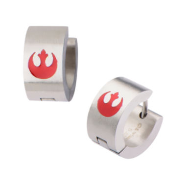 jcpenney.com | Star Wars® Stainless Steel and Enamel Rebel Logo Hoop Earrings