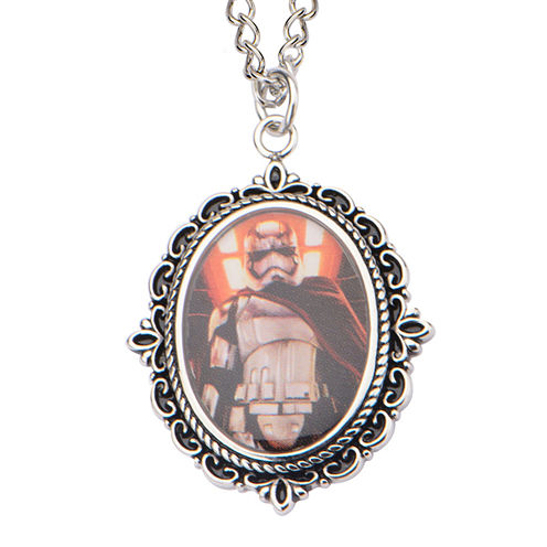 Star Wars® Stainless Steel Captain Phasma Cameo Pendant Necklace
