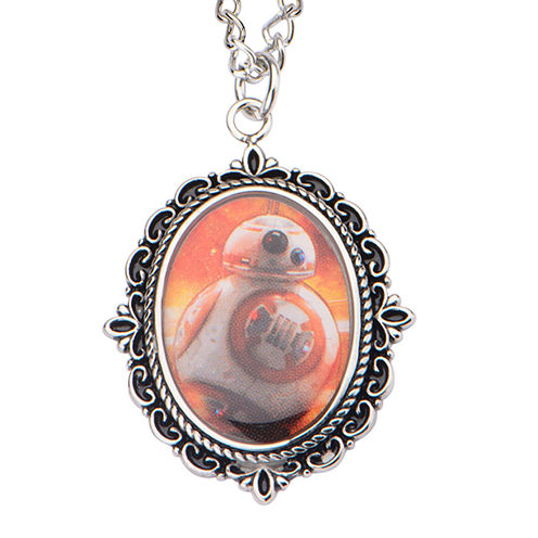 Star Wars® Stainless Steel BB-8 Cameo Pendant Necklace